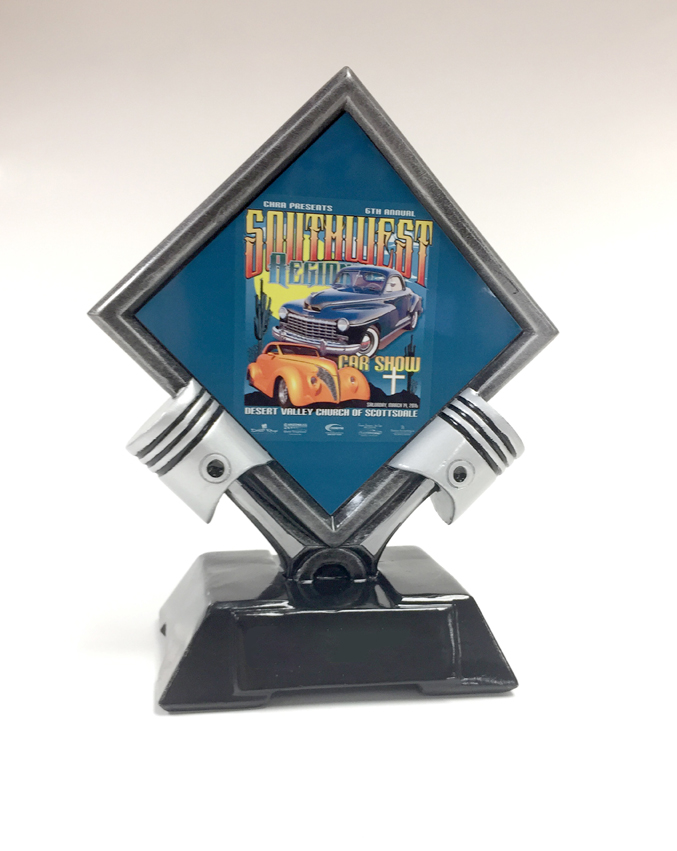 Tall Antique Silver Piston Award The Car Show Store - Piston car show trophies